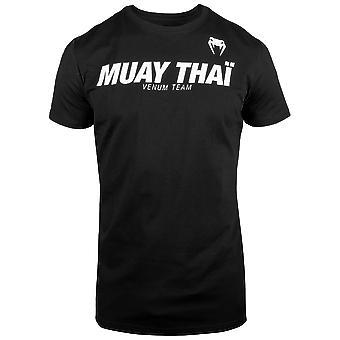Venum Classic Muay Thai T-Shirt Schwarz/Weiß