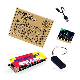 Tech Will Save Us BBC micro:bit Future Inventors Club Starter Pack | Educational Coding Kit, Pocket Sized Programmable Computer, Gift for Boys, Girls, Teens, Kids, Ages 11 and up