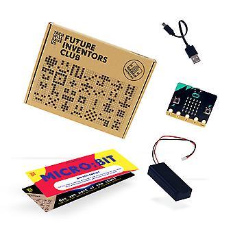 Tech nos salvará BBC micro:bit Future Inventors Club Starter Pack Kit de codificación educativa, computadora programable de bolsillo, regalo para niños, niñas, adolescentes, niños, 11 años en vez de arriba
