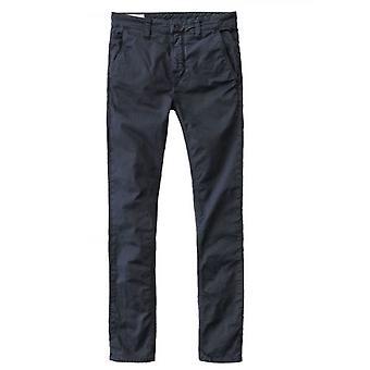 Nudie Jeans Dark Midnight Slim Adam Chino Trousers