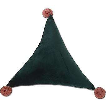 YANGFAN Triangle Ball Solid Color Cushion Pillow