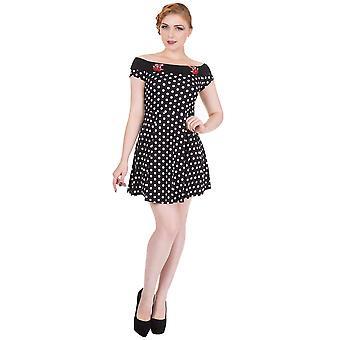 Yasaklı - geri dönören mini elbise - women's çok renkli çiçekli retro elbise