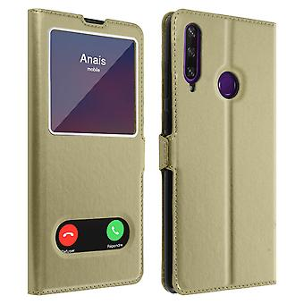 Back cover Huawei Y6p Integral Double Window Golden