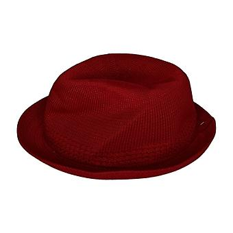 Stacy Adams Elmhurst Fedora Red Poly Vlecht Zomer Rode Hoed