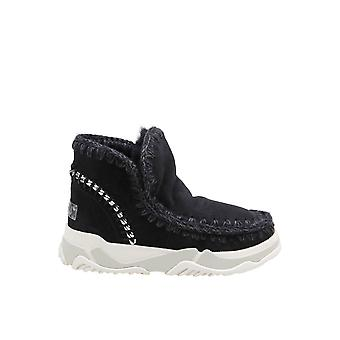 Mou Mufw201006abkbk Women's Black Suede Ankle Boots