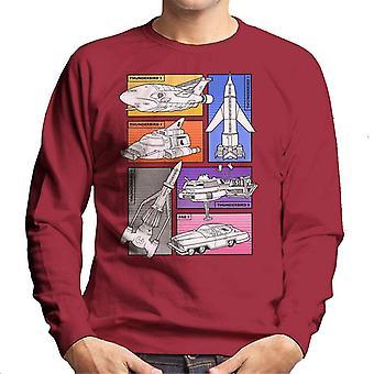 Thunderbirds Vehicle udskæringer mænd ' s sweatshirt