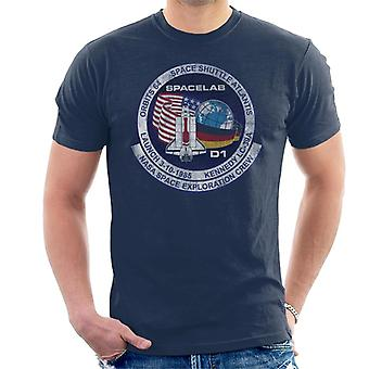 NASA STS 61 A Challenger Mission Badge Distressed Men's T-Shirt