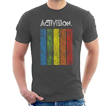 Activision Distressed Rainbow Fall Logo Men's T-Shirt