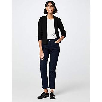 MERAKI Women's Shawl Collar Fitted Blazer,  Black, EU S (US 4-6)