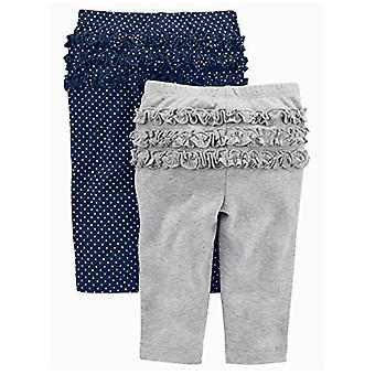 Simple Joys by Carter's Baby Girls 4-Pack Pant, Pink/Grey/Navy Ruffle, 18 Mon...
