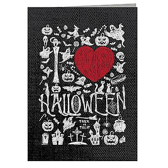 Scary Halloween Elements Greeting Card