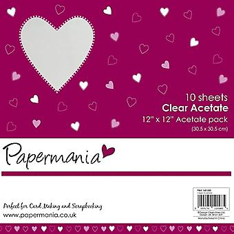 Papermania 12x12 Pouce acétate clair (10pk) (PMA 1681200)