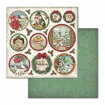 Stamperia Classic Christmas Rounds 12x12 Inch Paper Sheets (10pcs) (SBB704)