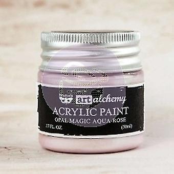 Finnabair Art Alchemy Acrylic Paint Opal Magic Aqua Rose