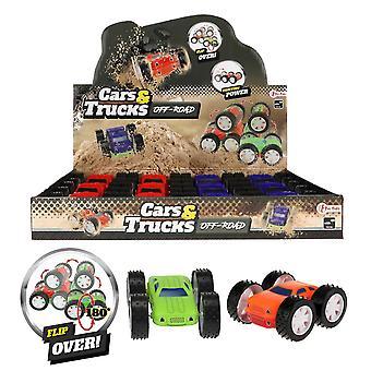 CARS & TRUCKS Mini Flip Monster Truck Med Friktion Bil Plast 10cm