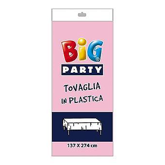 Rosa Kunststoff Tischdecke - 137 x 274cm Party-Dekoration