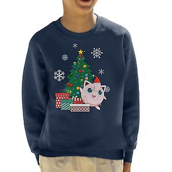Jigglypuff Around The Christmas Tree Kid's Sweatshirt