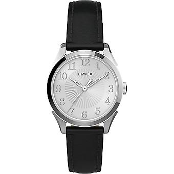 TW2T66600, Timex TW2T66600 Women's Briarwood 28mm Black Leather Strap Watch