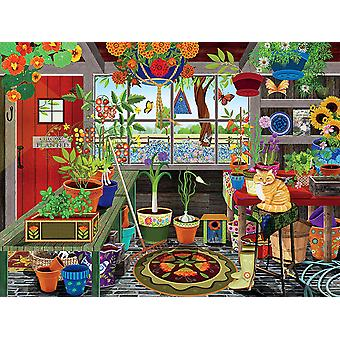 Puzzle - Ceaco - Tracy Flickinger - Greenhouse 300pcs New 2258-2