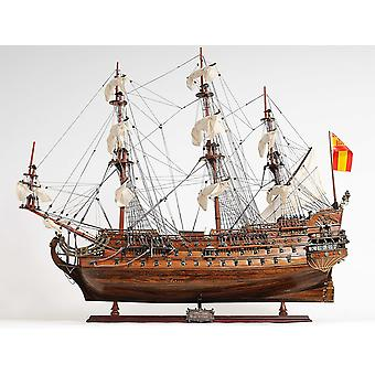 Sailboat Model with Chrome and Brass Fittings