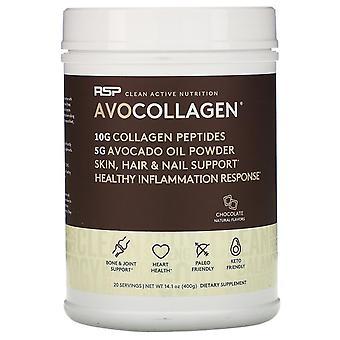 RSP Nutrition, AvoCollagen, Collagen Peptides & Avocado Oil Powder, Chocolate,
