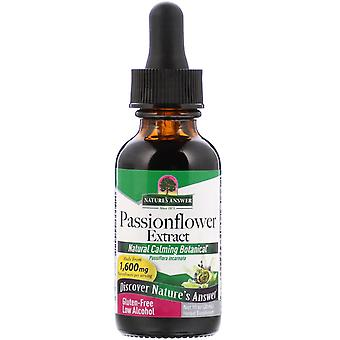 Nature's Answer, Passionflower Extract, Low Alcohol, 1.600 mg, 1 fl oz (30 ml)