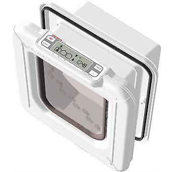 キャットメイトエリートチップ&ディスク超選択的キャットフラップ - ホワイト - 24.5x 13.5x 26cm