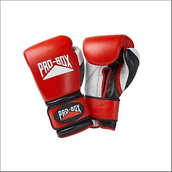 Pro box 'pro-spar' leather boxing gloves - red