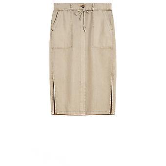 Sandwich Clothing Light Khaki Linen Skirt
