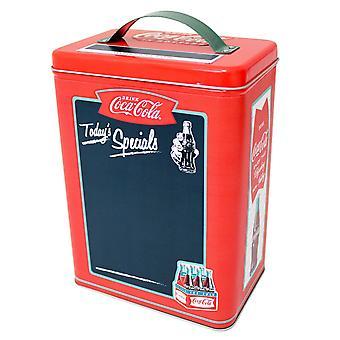 Tall Rectangle Tin - Coke - w/handle and Chalkboard Surface tin669207