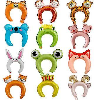 غطاء رأس صغير النمذجة بالون - الدب، أرنب، الأذن، شريط الشعر