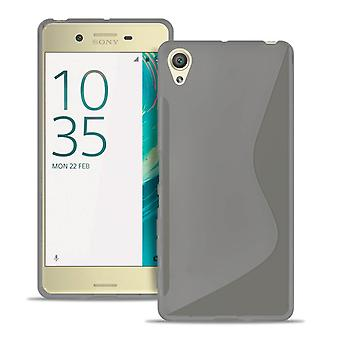 Sony Xperia X Light Silicone Ultra-Thin Bumper Bumper Transparent Grey