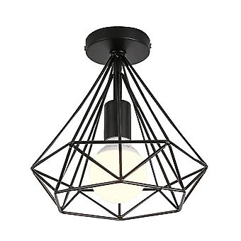Vintage Iron Chandelier Cage Ceiling Light E27 Led Lamp Fixture For Kitchen Living Room Decoration Nordic Retro Iron Lamp Decor