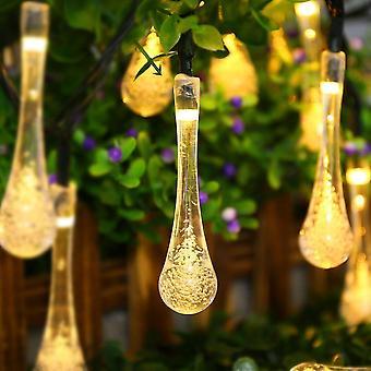 30led Solar Droplet Bulb String Lights - Giardino di Natale impermeabile all'aperto