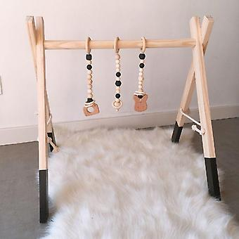 Tecknad Solid Wood Baby Gym Fitness Rack - Rum dekoration med ornament