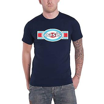 Oasis T Shirt Band Logo Target Oblong new Official Mens Navy Blue