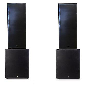 Big gig rig 26 - active 4000w rms twin 15 tops and 18 subwoofer pa system with bluetooth