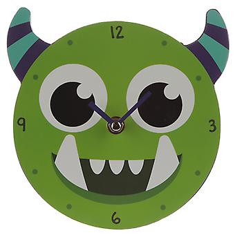 Dekorative Monster Monstarz grüne Wanduhr X 1 Pack