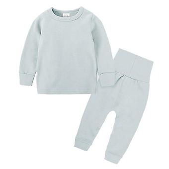 Baby Pajamas Sets High Waist Protection Belly Suit Kids Unisex Long Sleeve