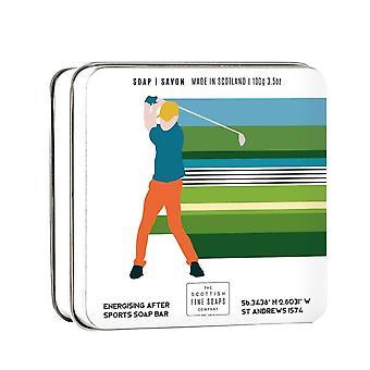 גולף נושאים 100גרם סבון משומר בר על ידי סבונים סקוטיים משובחים