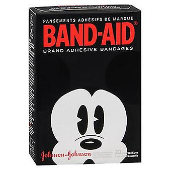 Band-Aid Bandages Adult Mickey Mouse Assorted Sizes, 20 each
