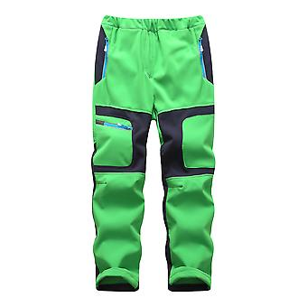 Fashion Brand Waterproof Boy / Girl Kids Pants- Warm Trousers Sporty Climbing Leggings Children Patchwork Soft Shell Outfits Autumn