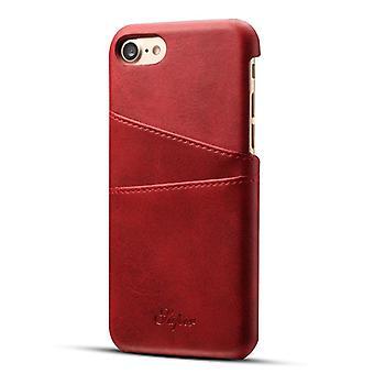Ledertasche mit Schlitz für Apple iPhone 6 / 6 s rot suteni-5