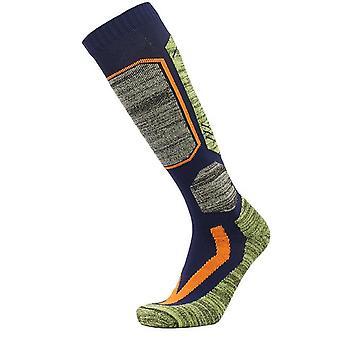 Calze al ginocchio a cuscino spesso cotone di alta qualità, sci da snowboard per sport invernali