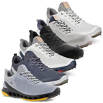 Ecco Mens 2021 Biom Cool Pro Leather Gore Tex Spikeless Waterdichte Golfschoenen