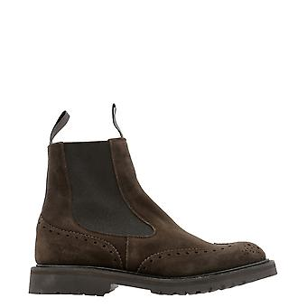 Tricker's Henrycafe Men's Brown Suede Ankle Boots
