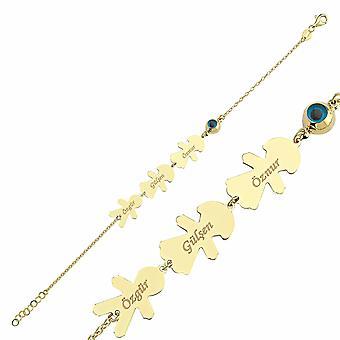 Bracelet de nom d'or d'enfants