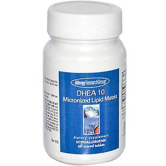 DHEA 10 Mikronizované Lipidová matica 60 skóroval tablety-alergia Výskumná skupina