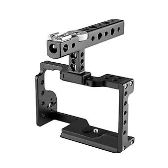 YELANGU C17 YLG0913A Video Camera Cage Stabilizer with Handle for Sony A6600 (Black)