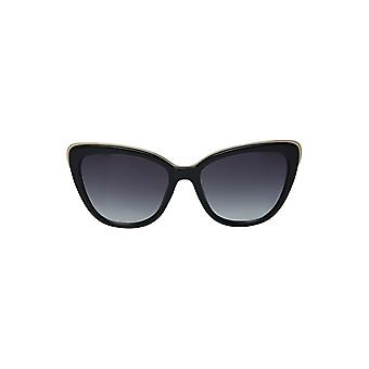 Louche Womens Gail Cat Eye Detail Sunglasses Black